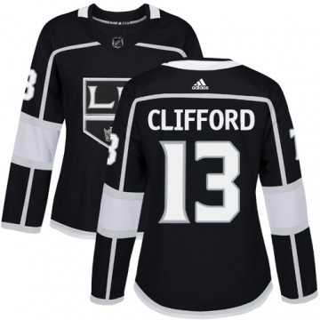 Authentic Adidas Women's Kyle Clifford Los Angeles Kings Home Jersey - Black