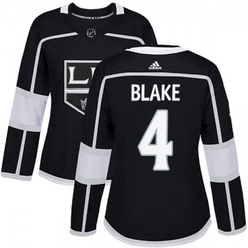 Authentic Adidas Women's Rob Blake Los Angeles Kings Home Jersey - Black