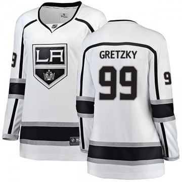 Breakaway Fanatics Branded Women's Wayne Gretzky Los Angeles Kings Away Jersey - White
